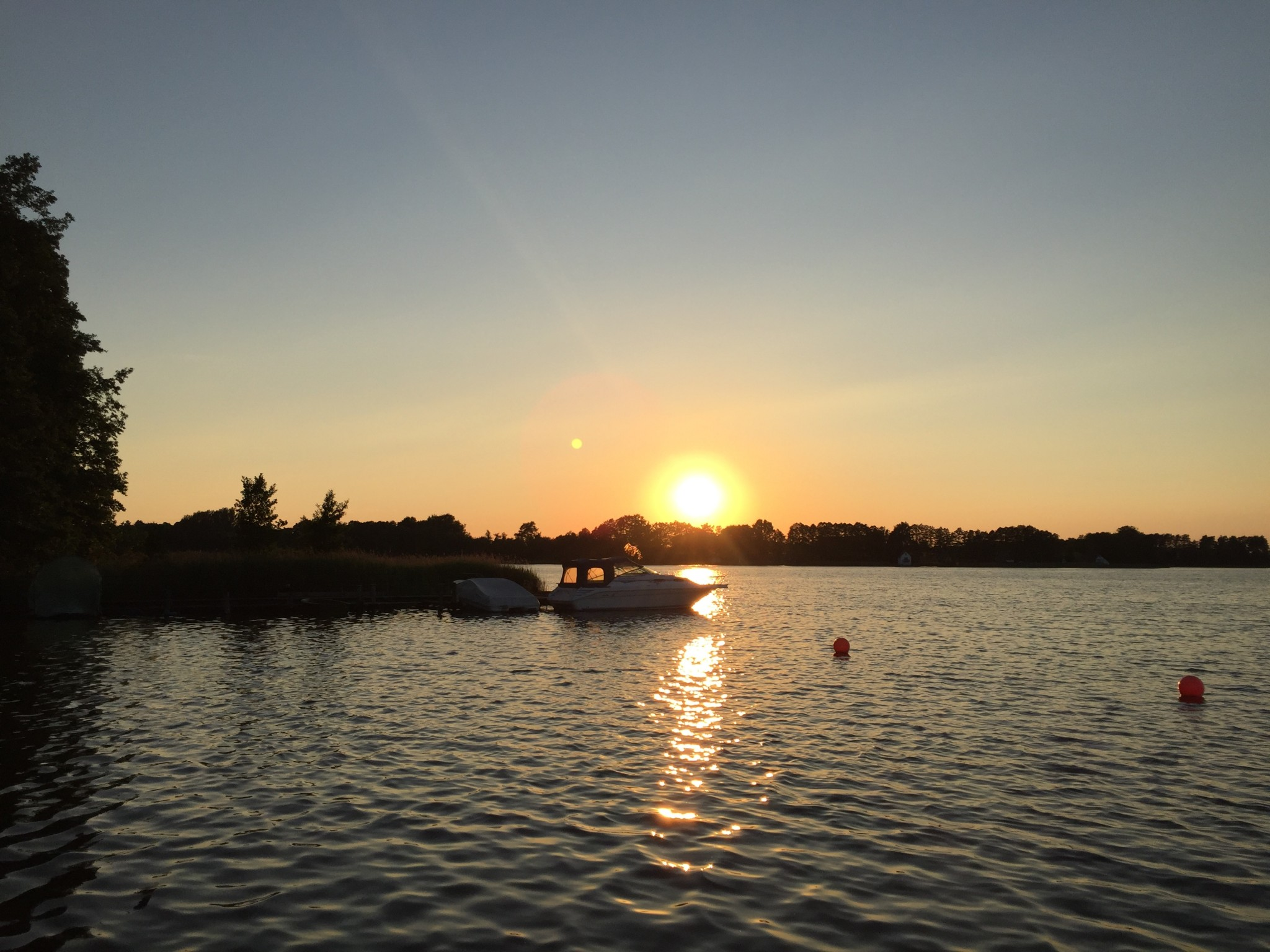 Sonnenuntergang Mecklenburgische Seenplatte Sommer 2016