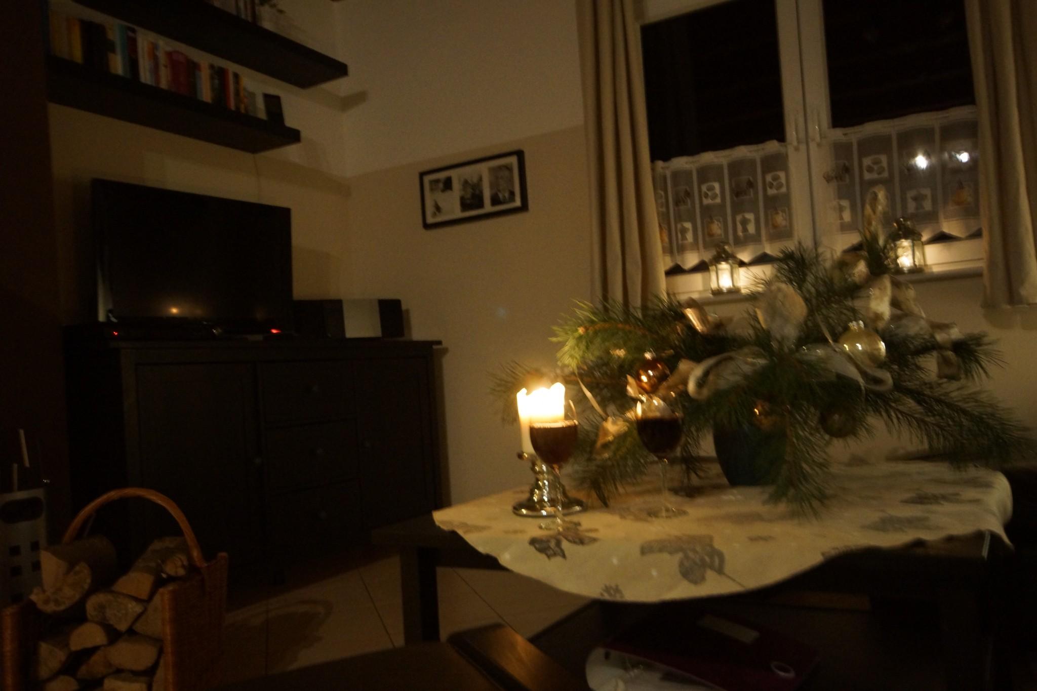 Winter im Ferienhaus in Brandenburg mit Kaminofen